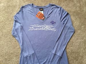 17216b8e39f Image is loading Harley-Davidson-Moisture-Wicking-Long-Sleeve-Ice-Blue-