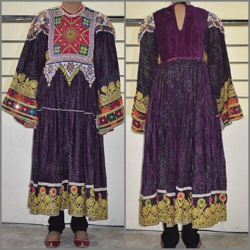 70s Vintage Kuchi Dress Afghan Nomad Boho Tribal E