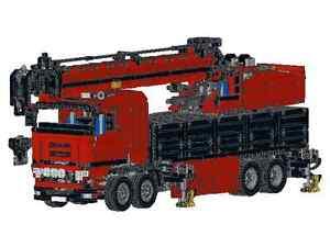 Bauanleitung instruction 42009 8258 LK Autokran Eigenbau Unikat Moc Lego Technic