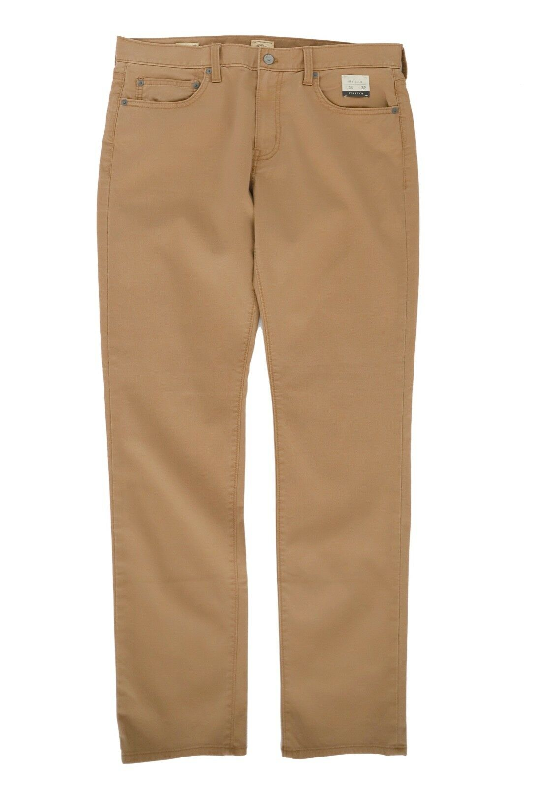 J.Crew Men's 34 32 - 484 Slim Fit Khaki Brown Light-Wt Bedford Corduroy Pants
