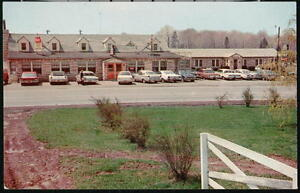 TROUT-RUN-PA-Fry-Bros-Turkey-Ranch-amp-Farms-Restaurant-Motel-Vintage-Car-Postcard