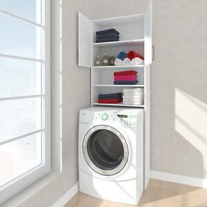 waschmaschine hochschrank umbauschrank bad schrank regal weiss 64 cm respekta ebay. Black Bedroom Furniture Sets. Home Design Ideas