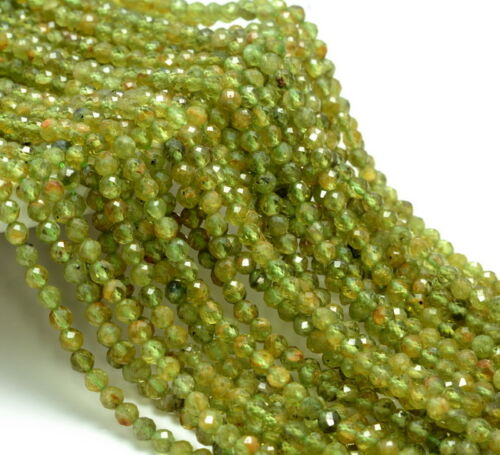 4MM PERIDOT GEMSTONE GRADE AB MICRO FACETED ROUND LOOSE BEADS 15.5/""