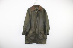 Mens-Barbour-Border-Green-Wax-Jacket-size-C38-97Cm-No-S208-27-4