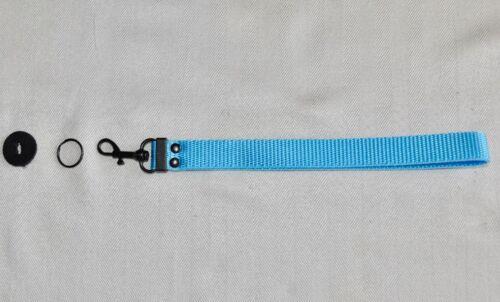 METAL CLIP SHORT BLUE WRIST STRAP LANYARD FOR DIGITAL CAMERA NEW*Q129**