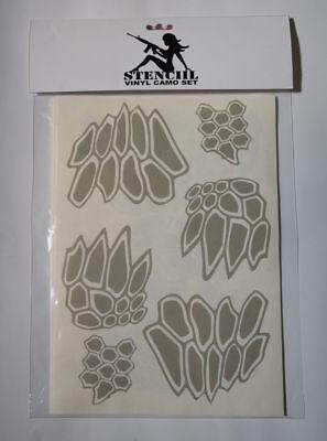 Stencil Camo KRYPTEK Style Adhesive Vinyl Set-10 Cerakote Duracoat Gunkote