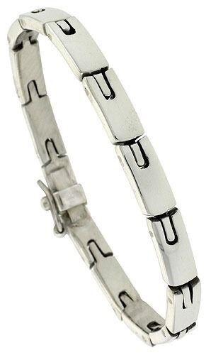 Sterling Silver Men/'s Horseshoe Link Handmade Bracelet