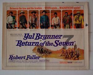 Vintage-half-sheet-Movie-Poster-Return-of-the-Seven-Limited-Ed-66-353