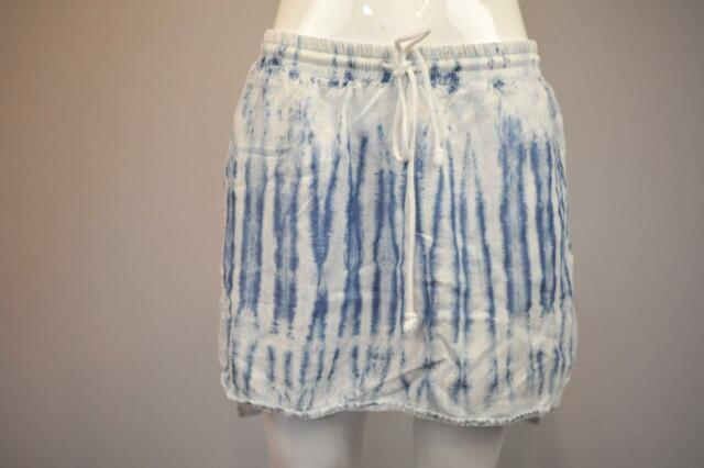 CLOTH & STONE Sz M $88 Anthropologie Shirttail Hem Dip-Dye Boardwalk Skirt [5G]