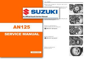 suzuki an125 workshop service shop manual burgman an 125 scooter ebay rh ebay co uk suzuki an 125 service manual download 80 suzuki rm 125 service manual