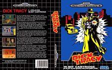 Dick Tracy Sega Mega Drive PAL Replacement Box Art Case Insert Cover Reproductio