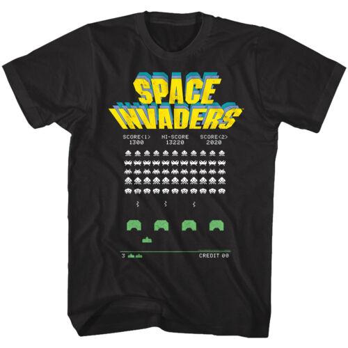 Space Invaders Alien Battle Arcade Game Men/'s T Shirt Hi-Score Vintage Atari Top