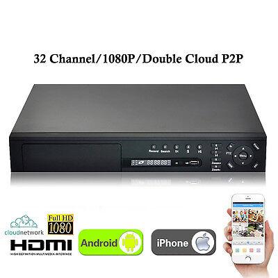 New XVR 32CH Channel 1080P 4*HDD CCTV Video Recorder Hybrid NVR AHD DVR 3-in-1