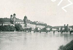 Passau - Blick vom Inn auf die Stadt - um 1915          Z 33-6