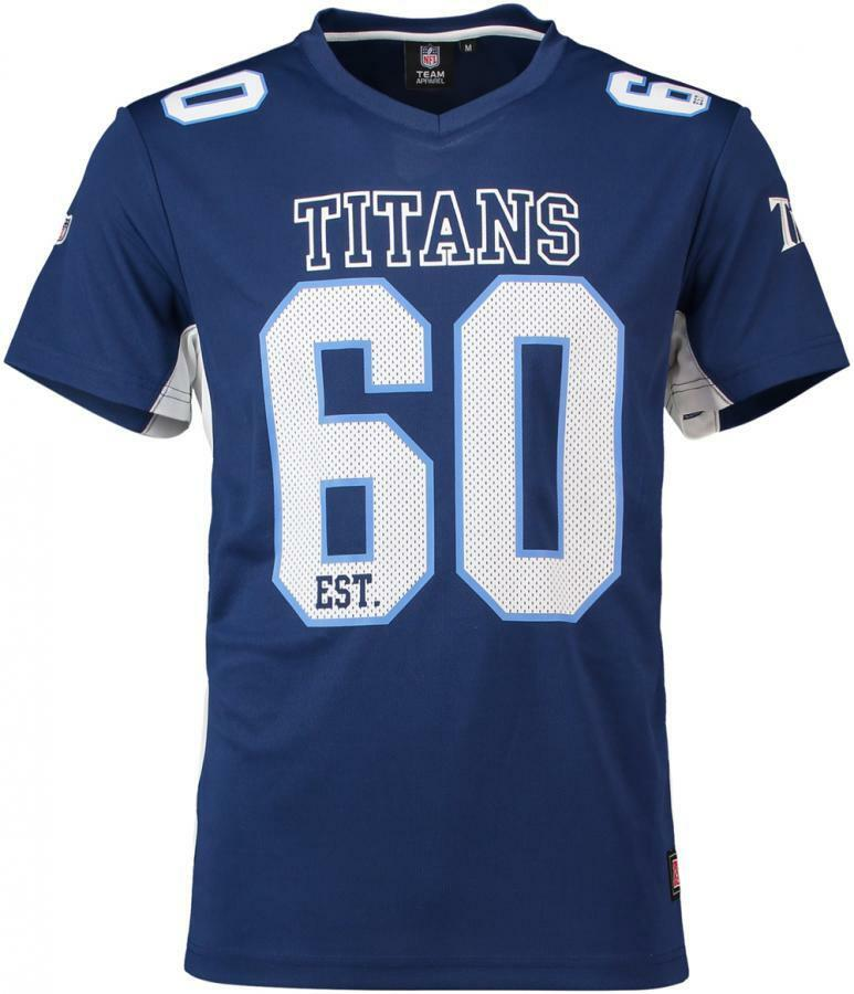 Majestic Athletic Tennessee Titans NFL Mgold Poly Mesh Jersey Tee T-Shirt  Trikot