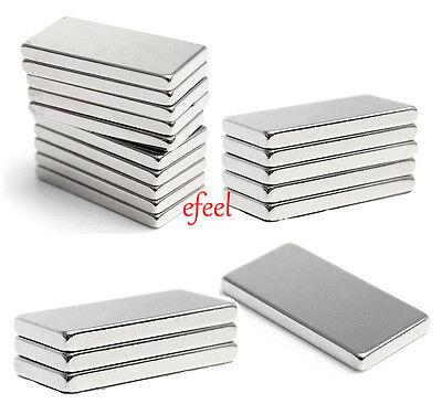 66mm x 13mm x 5mm Glossy Extra Strong Thick NdFeB Neodymium Block Bar  Magnets