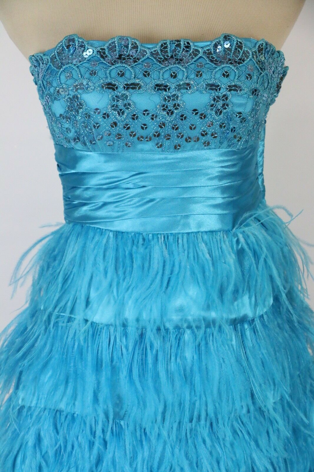 Masquerade   bluee Prom Formal Cruise Dress size 5 Short NWT Strapless Cruise