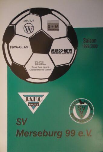 Programm 1999//00 SV Merseburg 99 VfL Köthen