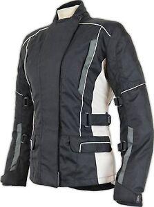 Donna Giacca Moto Tessile Giacca Biker vento di tenuta impermeabile interessi vestibilità  </span>