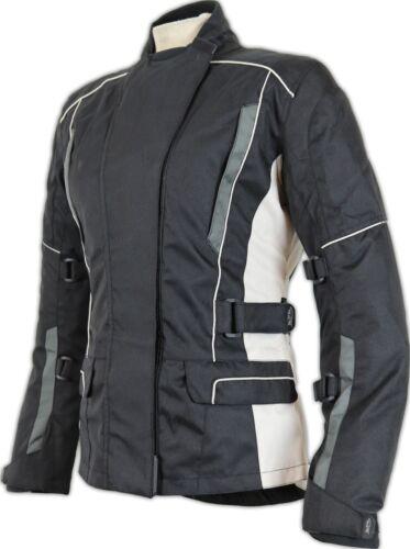 Damen Motorradjacke Textiljacke Biker Winddicht Wasserdicht Taillierte Passform