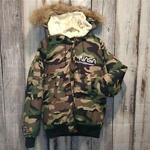 Hudson-Outerwear-Men-039-s-Nasa-Coat-w-fur-lined-M
