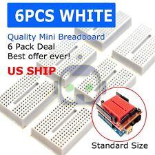 6pcs White Breadboard Syb 170 Tie Points Solderless Prototype Pcb Circuit Board