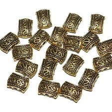 MB512f Antiqued Gold Pewter 12mm 3-Hole 2-Sided Spacer Bar Metal Bead 20/pkg