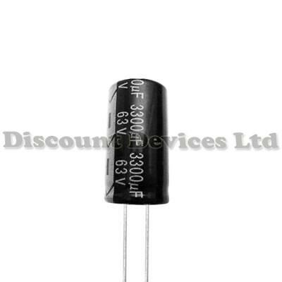 2x 3300uF 63V Radial Electrolytic Capacitor 105C
