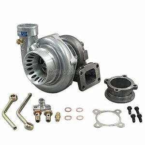 CXRacing-T3-GT35-Turbo-Charger-Anti-Surge-500-HP-For-Civic-240SX-Oil-Fitting