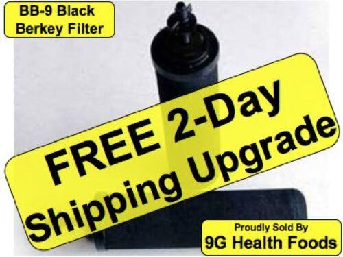 2 Black Berkey Replacement Filters Fits Royal Crown Imperial Lite Big BB-9 BB9