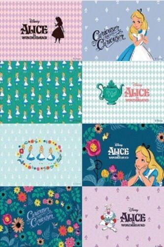 Cottonvill Pre Cut Linen Art Fabric Disney Alice In Wonderland 1057857/_NK