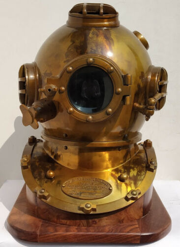 1921 Giftvintage antique 18Inch diving divers helmet deep sea anchor engineering