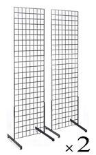 Display Grid Rack 2 Pack 6 Ft Metal Panel Wall Stand Retail Store Art Organizer