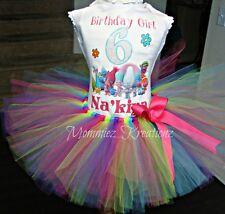 Trolls Birthday Tutu Set, Poppy Tutu set, Troll Birthday Shirt, Trolls Tutu