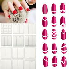 Mode Aufkleber Französisch Nail Art French Maniküre Sticker Nagel Schablone DIY