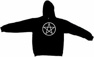 Wicca Pentagram Circle Logo Men's Hoodie Sweat Shirt Pick Size Small-5XL