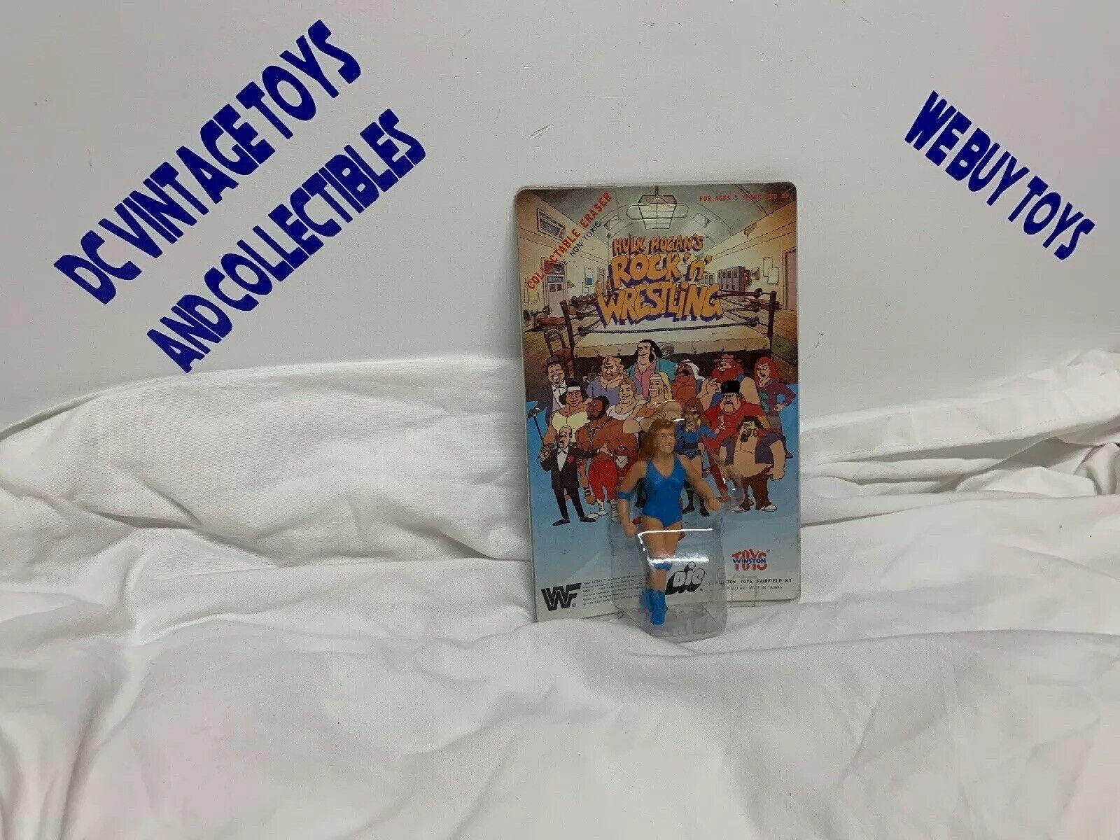 Rare Winston Spielzeugs WWF Wendi Richter ROCK N WRESTLING ERASER FIGURE Meerled