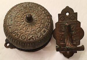 Merveilleux Image Is Loading Antique Victorian Eastlake Design Bronze Mechanical  Doorbell Amp