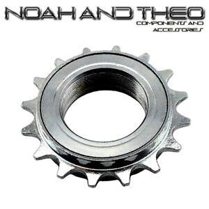 n-amp-t-16t-34mm-1-2-034-X-1-8-034-PLATA-BMX-Freewheel-Bicicleta-Una-Velocidad