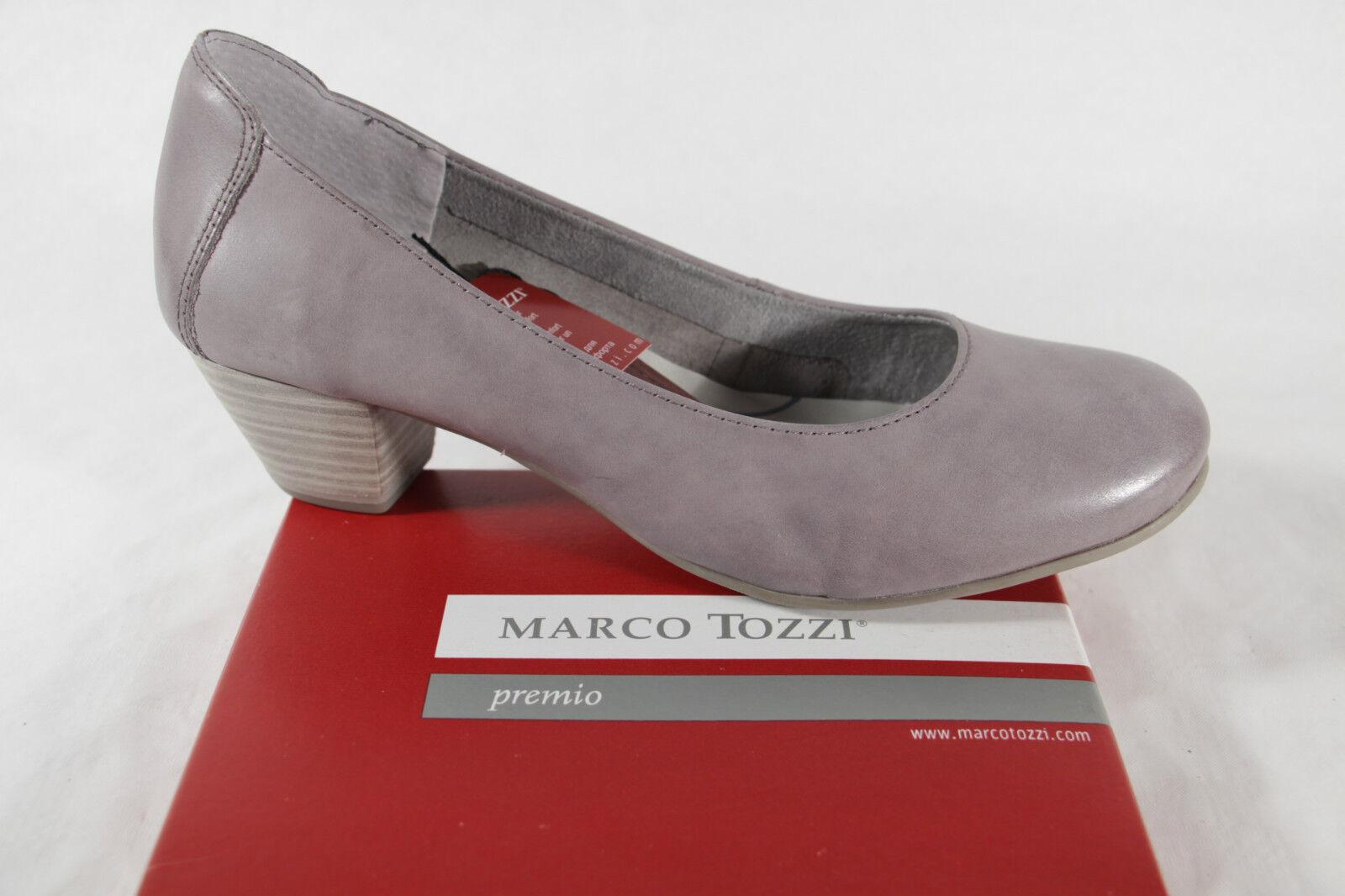 Marco Tozzi Mocasines, zapatos de tacón gris, Suave Suela Interior, NUEVO