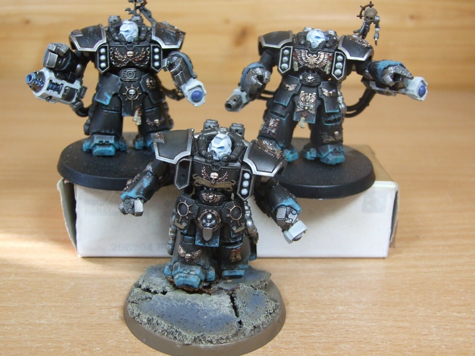 3 PLASTIC SPACE MARINE CENTURIONS WELL WELL WELL PAINTED (L) 3e0