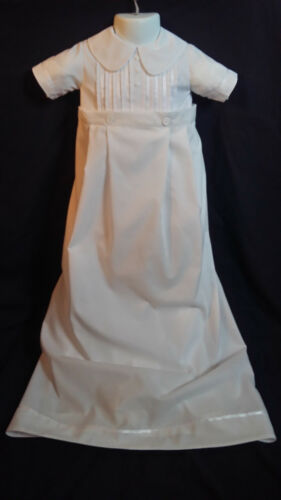 Infant Baby Boys White Christening Romper Baptism Outfit   Size 0-12  Months
