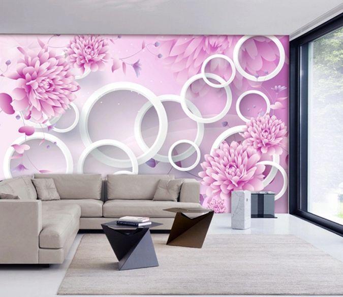 3D Pivoine 034 Photo Papier Peint en Autocollant Murale Murale Murale Plafond Chambre Art bf1263