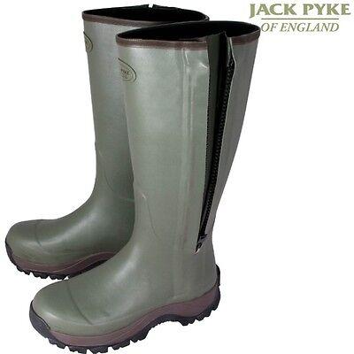 Jack Pyke Countryman Wellington Boots Mens Zipped Wellies Uk 6 -12 Waterproof