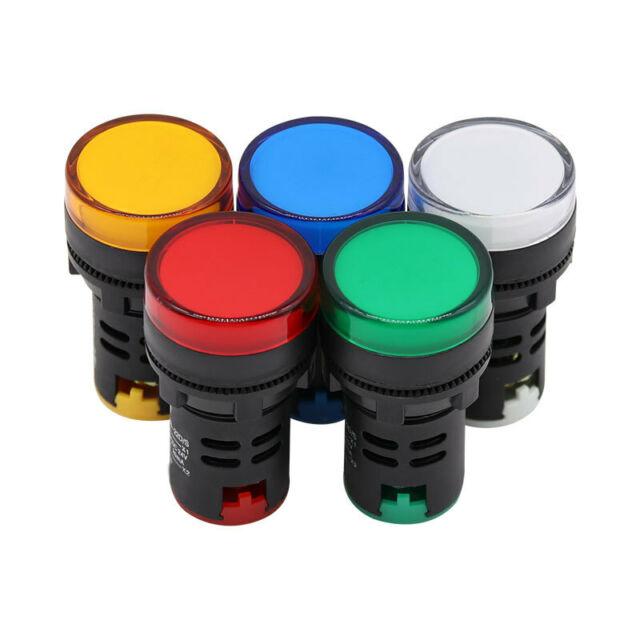 Baomain AD16-22D//S31 24 V 20mA Energy Saving LED Indicator Light Green Yellow Red Blue White 5 Pcs