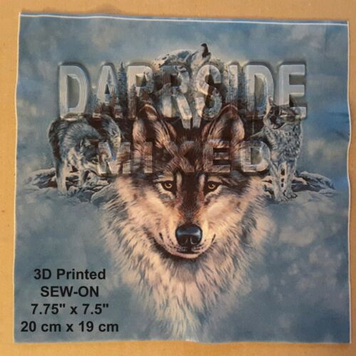 Wolves 3D Letters Prints Sew-on Shirt Canine Wild Animal Patch Wolf DIY Applique