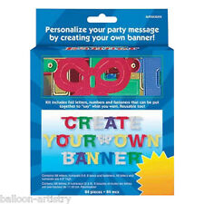amscan 26727 create your own letter banner set ebay