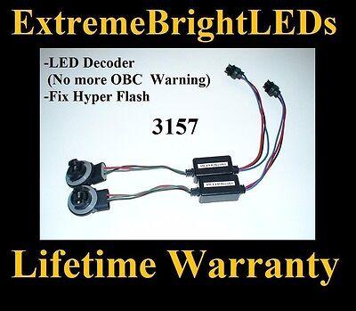 2x Decoder 3157 Light Bulb Warning Canbus Error Free Load Resistor Socket DC12V