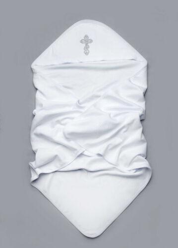 Christening Blanket Christening Terry Towel Cotton Christening Hooded Blanket