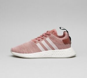 Image is loading Womens-Adidas-NMD-R2-Ash-Pink-White-Trainers- 338b435c0